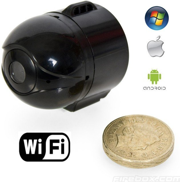 mini cam ra ip espion wifi avec la transmission en direct. Black Bedroom Furniture Sets. Home Design Ideas