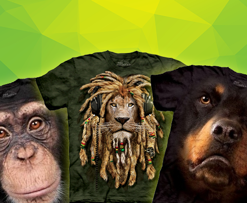 3D T-Shirts - Animal Gesichter