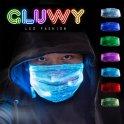 LED svítící maska (rouška na obličej) - možnost přepínat 7 Barev