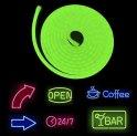 Logo luminoso tramite striscia al neon flessibile 5M con protezione IP68 - Colore verde