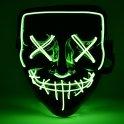 Halloween maska Pročišćavanje LED - zeleno