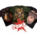 MEGA Action - 3 animal t-shirts for a great price