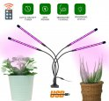 Növényvilágító LED 36W (4x9W) 4 lúdnyakfej + távirányító