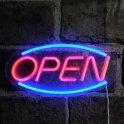 LED informační tabule svítící - OPEN