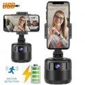 Selfie tutucu - Cep telefonu + 2MP web kamerası için akıllı otomatik motorlu döner tripod