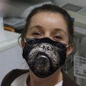 MOPS face mask protective with animal motif 3D