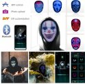 Masque LED intégral bluetooth - animation programmable (application pour smartphone)