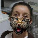 LEOPARD - Zvieracie masky na tvár s 3D potlačou