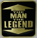 The Man The Legend - buckle