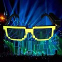 Glowing sunglasses for party and rave