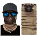 Breathable face balaclava with animal 3D print - MOPS