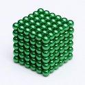 Magnetne kroglice 5 mm neokube - zelene