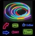 Color RGB luminous silicone advertising neon strip 5M waterproof with IP68