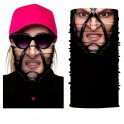 Protective face balaclava with 3D printing - MUTANT GIRL