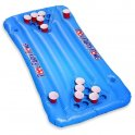 Beer pong inflatable floating for pool - 20 cup holders + 4 bottles