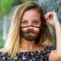 Vtipná maska na obličej 3D potisk - vousy s Brady