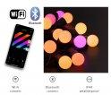 Světla na stromcek vianocny - LED osvětlení žárovky 20ks RGB - Twinkle Feston + BT + Wi-Fi