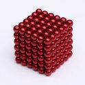 Magnetické kuličky pro děti 216 ks - 5 mm červené