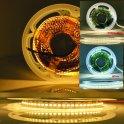 LEDライトストリップ5M CCT、調整可能な白色光温度2700〜6500K