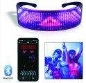 LED okuliare - FULL LED display programovateľné cez Smartphone (Bluetooth)
