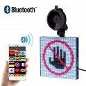 Pantalla LED para pantalla cuadrada RGB para automóvil con control Bluetooth a través de la aplicación