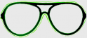 Neon Glasses - Green