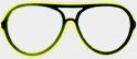 Gafas de neón - amarillo