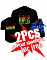Buy 2 Led t-shirts and get 1 led shoelaces for free