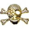 Golden skull - belt buckle
