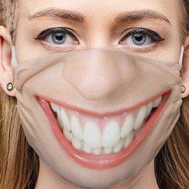 Divertenti maschere protettive 3D - BOCCA GRANDE