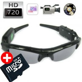 Lunettes caméra HD - Agent 009 + Micro SD 4Go