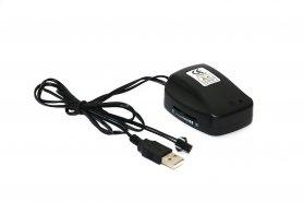ספק כוח USB מהפך EL - רגיש לרעש + אורות קבועים לחוט El