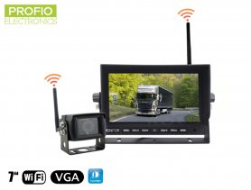 "Parkplatz Auto-Kamera-Set - WiFi 7 ""LED-Monitor + WiFi Kamera"