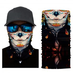 Bandana or scarf for face - MUERTA pattern
