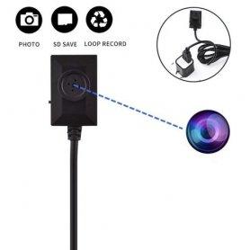 Gombíková kamera mini 3x2x1cm s HD rozlíšením a USB napájaním