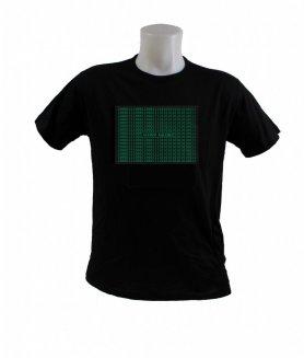 MATRIX LED equalizer shining T-shirt