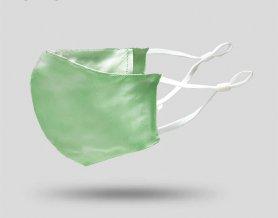 Maschere per il viso in seta 100%seta biologica - Verde chiaro