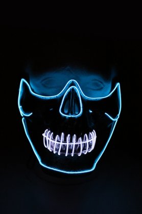 Máscara de rave LED parpadeante en la cara - Cráneo
