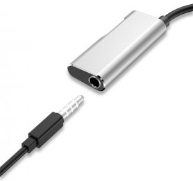 HUB 2 in 1 - USB TYPE-C cu mufa audio 3,5 mm + USB-C