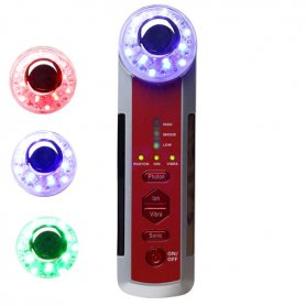 4-in-1 Multifunktions-Ultraschall-, Ionen-, LED-Photon Vibrations-Massagegerät