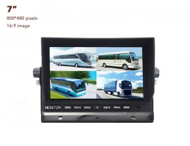 "7"" LCD monitor with the possibility to connect up to 4 reversing cameras"