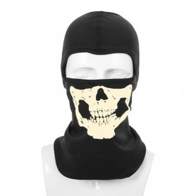 Skeleton balaclava - scary elastic face mask