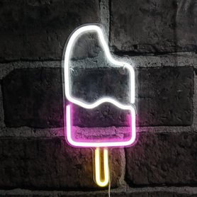 Neon Light Signs ICE CREAM pour la publicité
