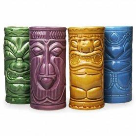 Tiki bögre -Koktél kerámia pohár -4 db készlet