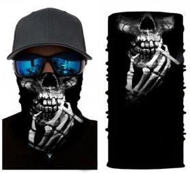 Écharpe de protection (bandana) - CRÂNE avec cigarette