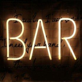 Reklamný svietiaci LED neonový pútač - BAR
