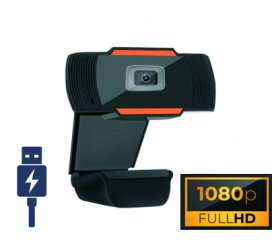 Webcam FULL HD 1080p - USB 2.0 con supporto universale