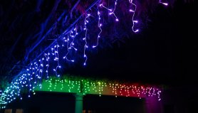 Lanț luminos LED inteligent 5m - Twinkly Icicle - 190 buc RGB + W + BT + Wi-Fi