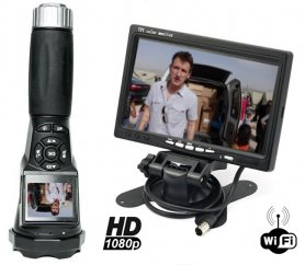 "Wifi camera in flashlight FULL HD + 7 ""LCD Monitor Wifi"