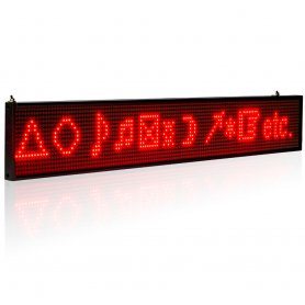 LED advertising panel with WIFI - 50 cm with iOS and Android support - red